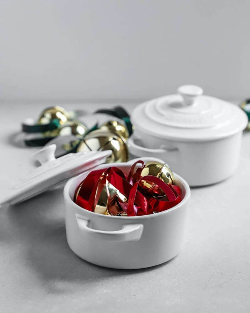 photo of le creuset pots for the holidays