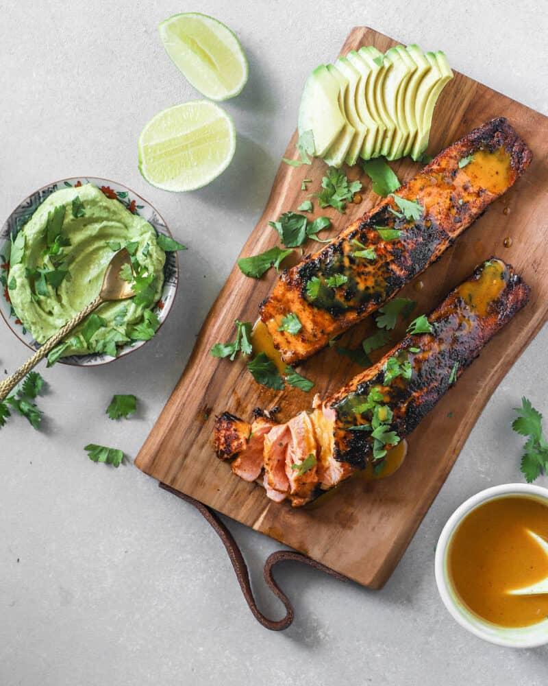 honey mustard pan seared salmon