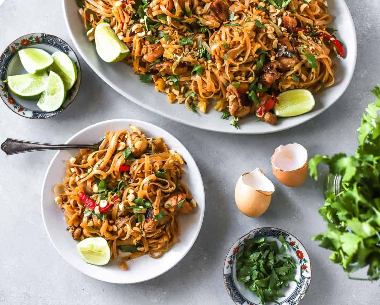 ginger chicken pad thai recipe