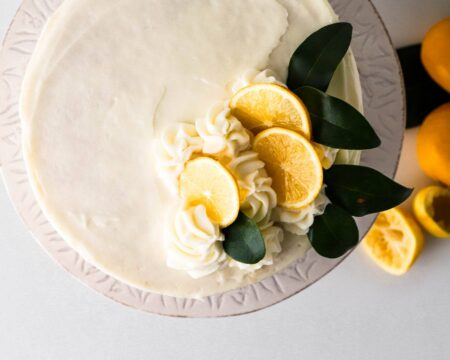 Lemon Layer Cake with Chantilly Cream Cheese