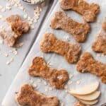peanut butter apple homemade dog treats