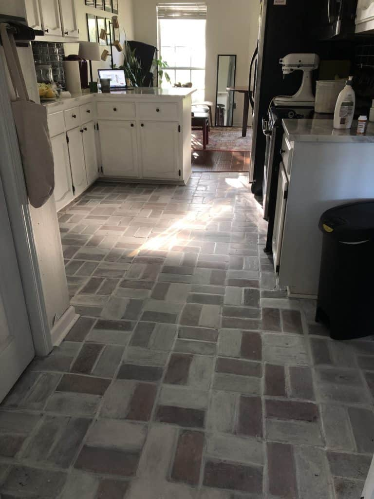 whitewashing brick pavers
